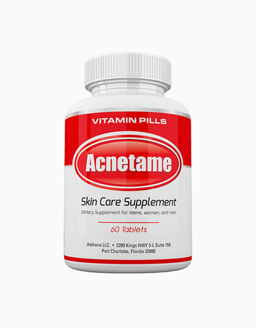 Acnetame Skin Care Supplements for Acne Treatment (60 Natural Vitamin Pills) by Acnetame