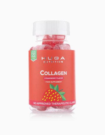Collagen Anti-Aging Skin Gummy Vitamins Strawberry Flavor (60 Gummies) by Huga Nutrition