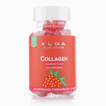Collagen Anti-Aging Skin Gummy Vitamins Strawberry Flavor (60 Gummies) by Huga Nutrition