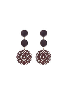 Amara Wooden Earrings by EI Project