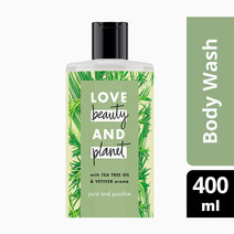 Tea Tree & Vetiver Body Wash Pure and Positive (400ml) by Love Beauty and Planet