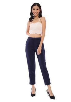 Plain Peg Leg Pants by The Fifth Clothing