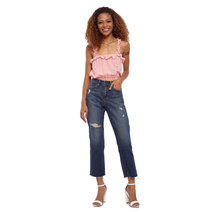 Danica Ruffle Strap Crop Top by Babe