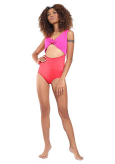Belle Pink Red One Piece by Suns of Beaches