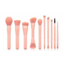 Peach 10-Piece Makeup Brush Set by Brush Works