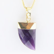 Amethyst Healing Crystal Pendant by Crystal Beauty