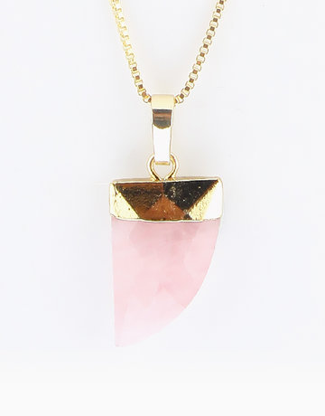 Rose Quartz Healing Crystal Pendant by Crystal Beauty