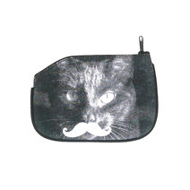 Cat Mustache Coin Purse by Artwork