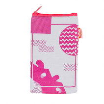 Zigzag Circle Vertical Pouch by Artwork
