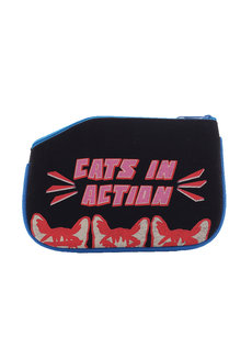Cats in Action Coin Purse by Artwork