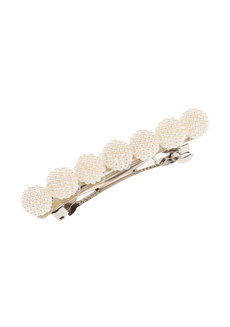 Stacie (Beaded Pearl Acrylic Hair Barrette) by Aine