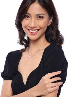 Rose Quartz Dainty Gemstone Necklace 2.0 by Made By KCA
