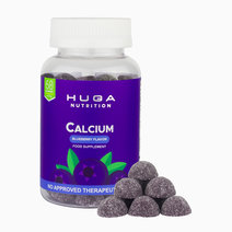 Calcium Gummy Vitamins Blueberry Flavor (60 Gummies) by Huga Nutrition
