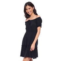 Off-the-Shoulder Tiered Dress by The Fifth Clothing
