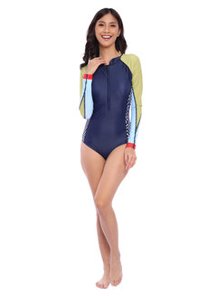 Ivy Color Block Long Sleeve Rashguard Suit by EIKA Swimwear