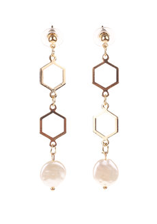 Hive Pearl Drop Earrings by EI Project