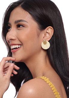 Pola (Acrylic Circle Stud Earrings) by Kera & Co