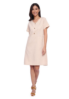 Lorna Linen Dress by Toppicks Clothing