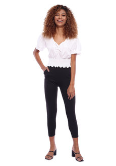 Sweetheart Neck Shirred Crop Top by The Fifth Clothing
