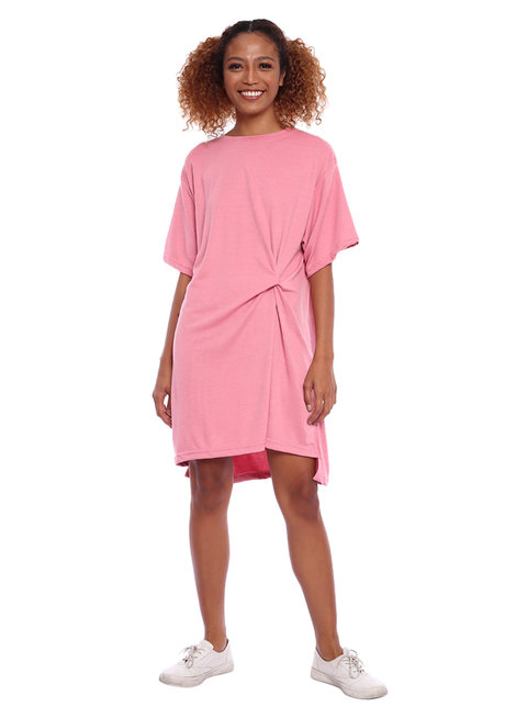 Lazy Twist Shirt Dress by Lazy Fare