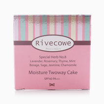Moisture Two-Way Cake Mixed Foundation & Powder Pact SPF 40 / PA++ by Rivecowe