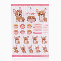 Cutie Corgi Vinyl Sticker by Karagami
