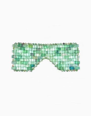 Luxury Green Aventurine Eye Mask by Crystal Beauty