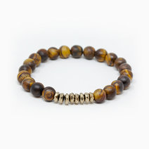 Live The Dream Tiger Eye + Pyrite Crystal Bracelet by The Calm Chakra