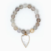 Gentle Guardian Agate + Clear Quartz Crystal Bracelet by The Calm Chakra