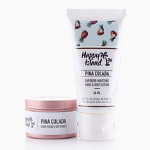 Hand & Body Lotion + Scented Candle Tin Bundle in Pina Colada by Happy Island