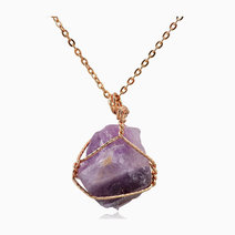 Raw Amethyst Pendant w/ Necklace by Stones for the Soul