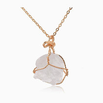 Raw Clear Quartz Pendant w/ Necklace by Stones for the Soul