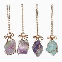 Raw Fluorite Pendant w/ Necklace by Stones for the Soul