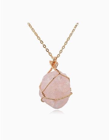 Raw Rose Quartz Pendant w/ Necklace by Stones for the Soul