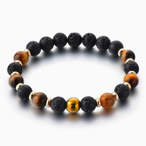 Tiger Eye & Gold Hematite Diffuser Bracelet by Stones for the Soul
