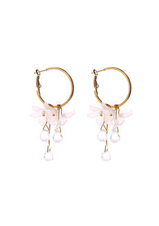 Rive Flower and Crystal Earrings by Dusty Cloud
