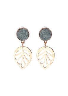 Kaia (Gold Leaf Earrings) by Aine