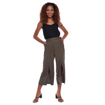 Front Slit Culotte Pants by Glamour Studio