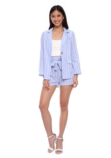 Striped Blazer Set 2.0 by Pink Lemon Wear