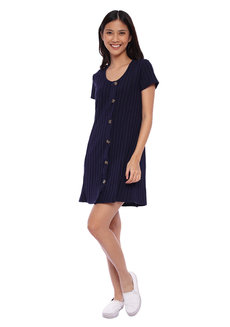 Buttoned Up Shift Dress by Glamour Studio