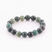 Moss Agate Bracelet (10mm Bead Size) by Cosmos MNL
