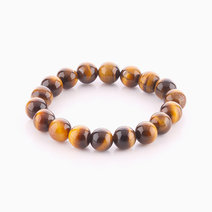Brown Tiger's Eye Bracelet (10mm Bead Size) by Cosmos MNL