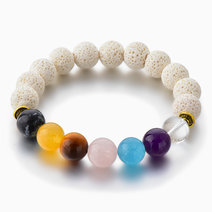 White 7 Chakra Diffuser Bracelet by Stones for the Soul