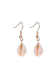 Wren Asymmetrical Shell Earrings by Dusty Cloud