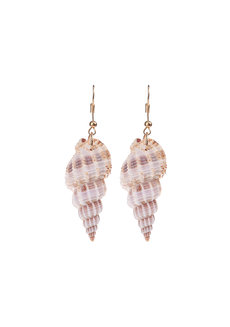 Rowan Asymmetrical Shell Earrings by Dusty Cloud