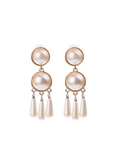 Eve Pearl Earrings by Dusty Cloud