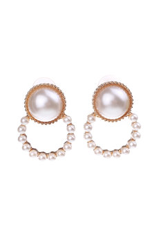 Mannon Pearl Earrings by Dusty Cloud