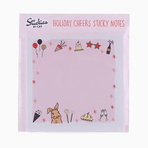 Brown Sugar Holiday Cheers Sticky Notes by C&S Designs