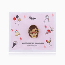 Foodie Sarah Enamel Pin by C&S Designs