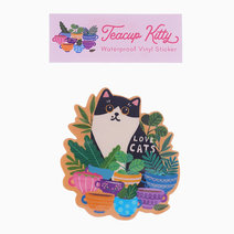 Teacup Kitty Sticker Pack by The Offbeat Cat